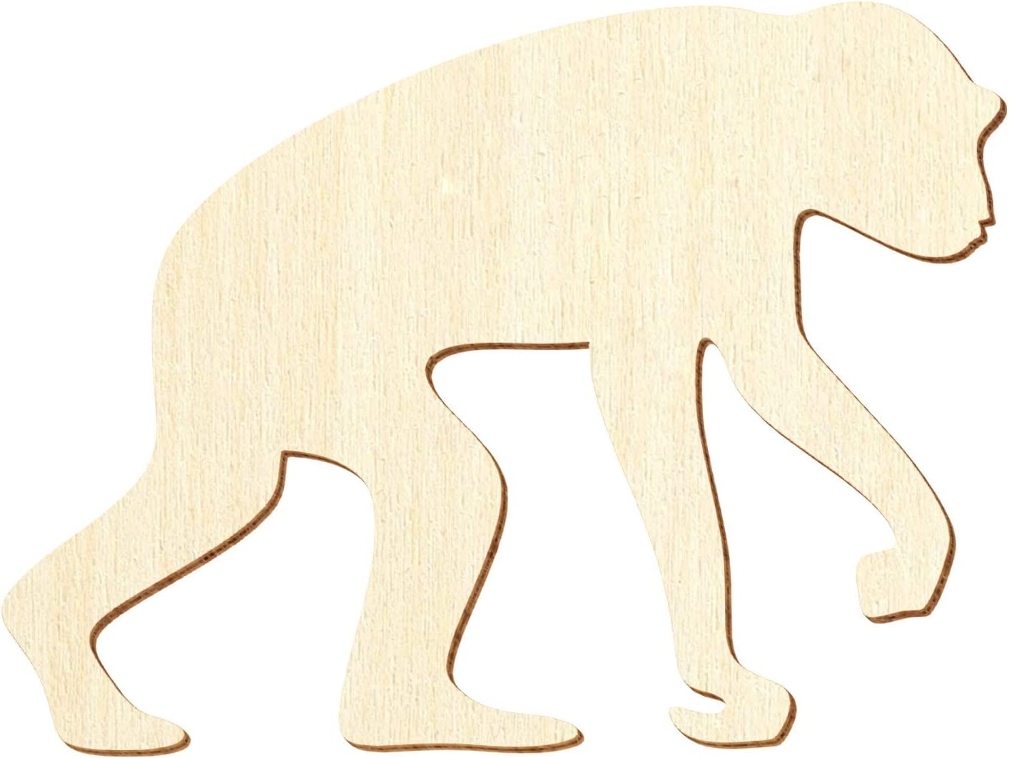 Deko Basteln 3-50cm Gr/ö/ße:3cm Holz Schimpanse Pack mit:1 St/ück