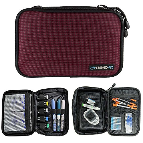 ChillMED Elite Diabetic Insulin Cooler Bag Travel Case with Two 6oz Cold Packs (Burgundy) 10'' x 7'' x 3'' by ChillMED (Image #6)