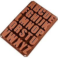 26 Lettere Inglese Cioccolato Silicone Stampi, Stampi di Sapone per Cottura in Cucina, Fai da te Cioccolato, Cubetti di Ghiaccio, Biscotti, Dolci