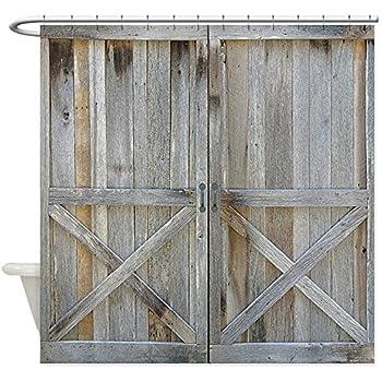 CafePress - Old Rustic Barn Door - Decorative Fabric Shower Curtain ... & Amazon.com: CafePress - Old Rustic Barn Door - Decorative Fabric ...