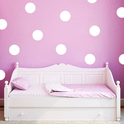 Buy Ufengke Ws Polka Dot Wall Stickers White 20 Pcs Circle Wall