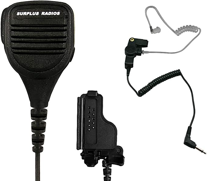 Speaker Mic with Reinforced Cable for Motorola Radios XTS1500 XTS2500 XTS3000 XTS5000 PR1500 HT1000 MTS2000 Replacement Shoulder Microphone of PMMN4051 PMMN4051B XTS 1500 2500 3000 5000