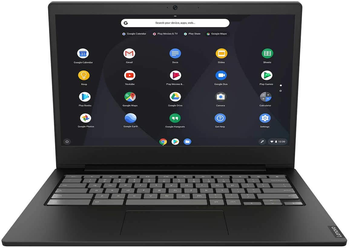 "2020 Newest Lenovo Thin and Light Chromebook: 14"" FHD Anti-Glare Display, Intel Dual Core N4000 Processor, 4GB RAM, 64GB eMMC, WiFi, Bluetooth, HD Webcam, USB-C, Google Chrome OS"