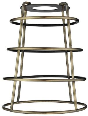 Westinghouse 6-7/16 in. Antique Brass Industrial Cage Metal Shade with Open Bottom with 2-1/4 in. Fitter and 5-3/8 in. Width-8503500 - The Home Depot