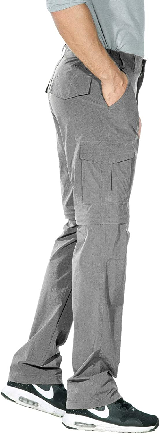 Nonwe Mens Outdoor Water-Resistant Quick Dry Convertible Cargo Pants
