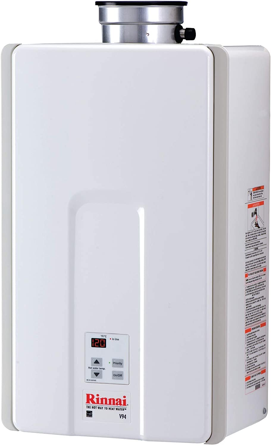 Rinnai Indoor Tankless Hot Water Heater / V94XIN / Natural Gas/ 9.8 GPM