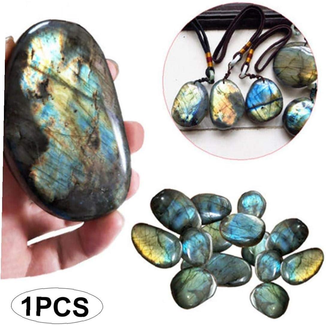 Yililay Natural de Cristal Moonstone 1PC Crudo de la Piedra Preciosa del Ornamento de Cuarzo Pulido Labradorita Decoración Piedra (0,78
