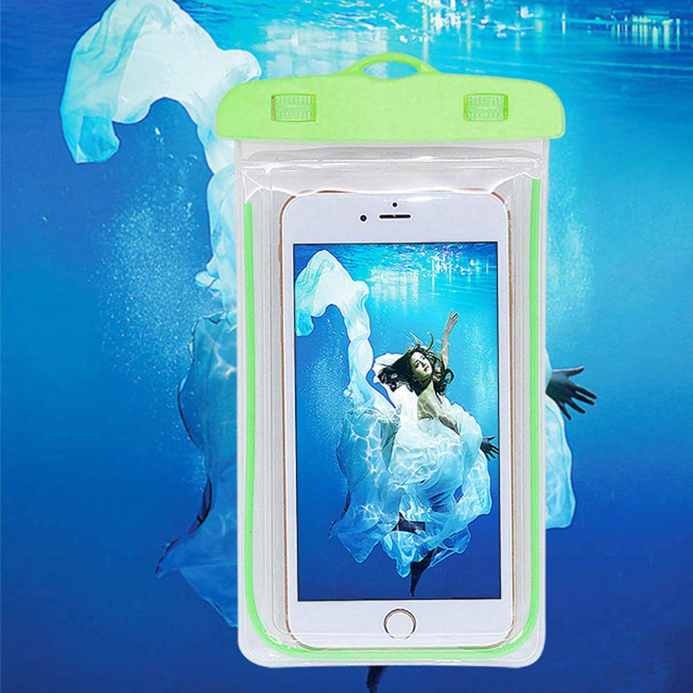 Waterproof Case for Outdoor Activities - Waterproof Bag/Pouch for iPhone X/8/8plus/7/7plus/6s/6s Plus/Samsung Galaxy S9/S9 Plus - IPX8 Certified to 100 Feet (Green)