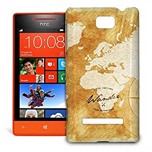 Phone Case For HTC 8S - Wander The World Premium Wrap-Around