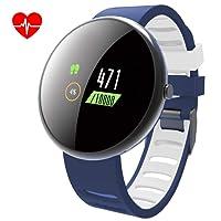LATITOP Smart fitness tracker orologio con cardiofrequenzimetro e sfigmomanometro, 2.5d schermo a colori IP67impermeabile Activity Tracker con contapassi, calorie Counter, monitoraggio del sonno