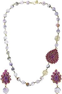 Arabella Luxuries Alloy Magnificent Mauve Jewelry Set - 2 Pieces