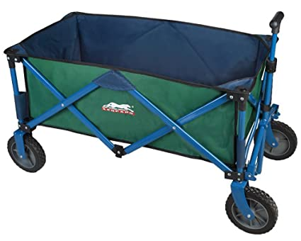 Leopard Outdoor Collapsible Utility Wagon,Portable Folding Utility  Wagon,Sports Garden Cart,Beach