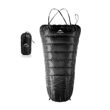 Tentock - Saco de dormir para exterior (ultraligero, para adulto, con plumón de pato y termo), verde: Amazon.es: Deportes y aire libre