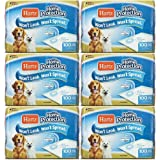"""HARTZ Home Protection Dog Pads 21"""" x 21"""", 600ct (6 x 100ct)"""