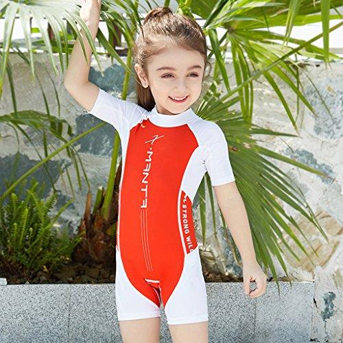 d96b319c72 Gogokids Boys Girls One Piece Swimsuit - Kids Short Sleeves Swimwear UPF 50+  UV Wetsuits