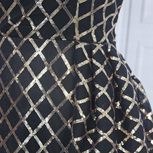 Hochzeitskleid Pailletten DHG S Abschnitt Kleid Schwarz Saudi Stil Spitze Langen FdwPqS