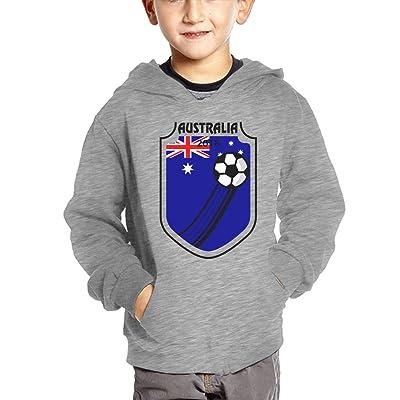 2018 Football Australia Baby Boy Children's Lightweight Pullover Hoodies Funny Hooded Sweatshirts With Pockets