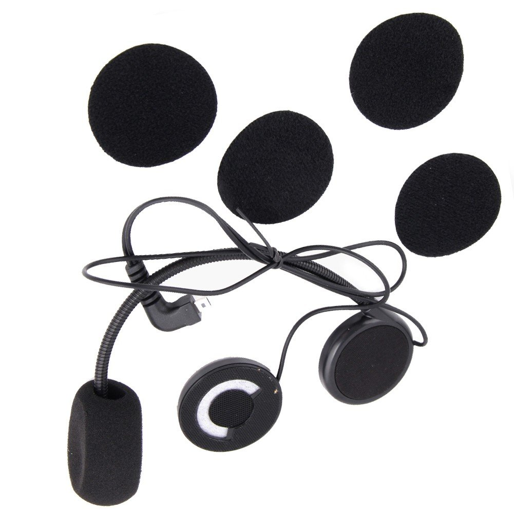 Buyee Wired Microphone Headphone Speaker for Interphone Motorcycle Helmet Headset T172-01