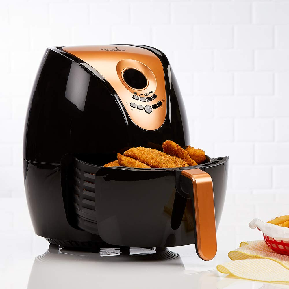 Copper Chef 3.2 QT Black and Copper Air Fryer Plus- Turbo Cyclonic Airfryer With Rapid Air Technology For Less Oil-Less Cooking. by Copper Chef (Image #2)