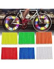Bike Rim Reflector Bicycle Wheel Spoke Reflector Spaak Eenvoudig Te Monteren Fietswiel Spaak Reflector 72 Pcs Reflective Mount Clip Blauw Groen Rood Geel Wit Oranje Voor Fietsen En Motorfietsen