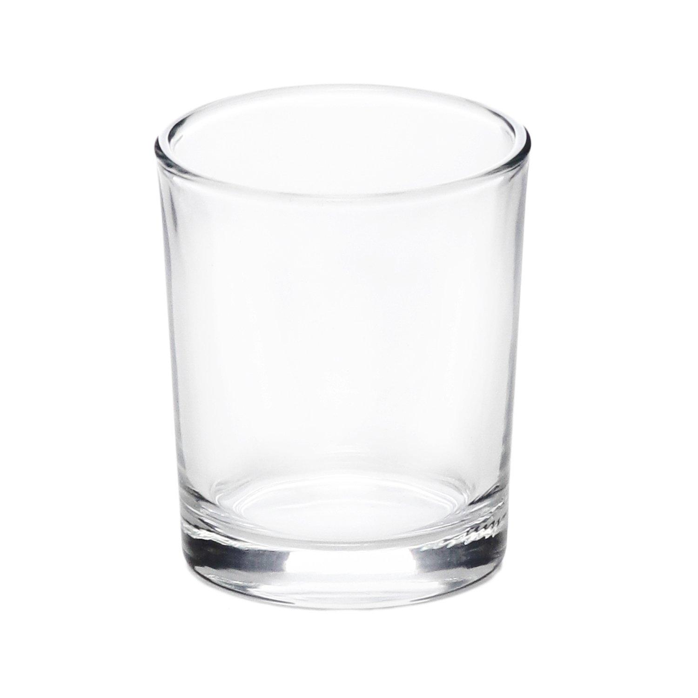 Portacandela in vetro liscio, da 6,5x5,5 cm KASANOVA