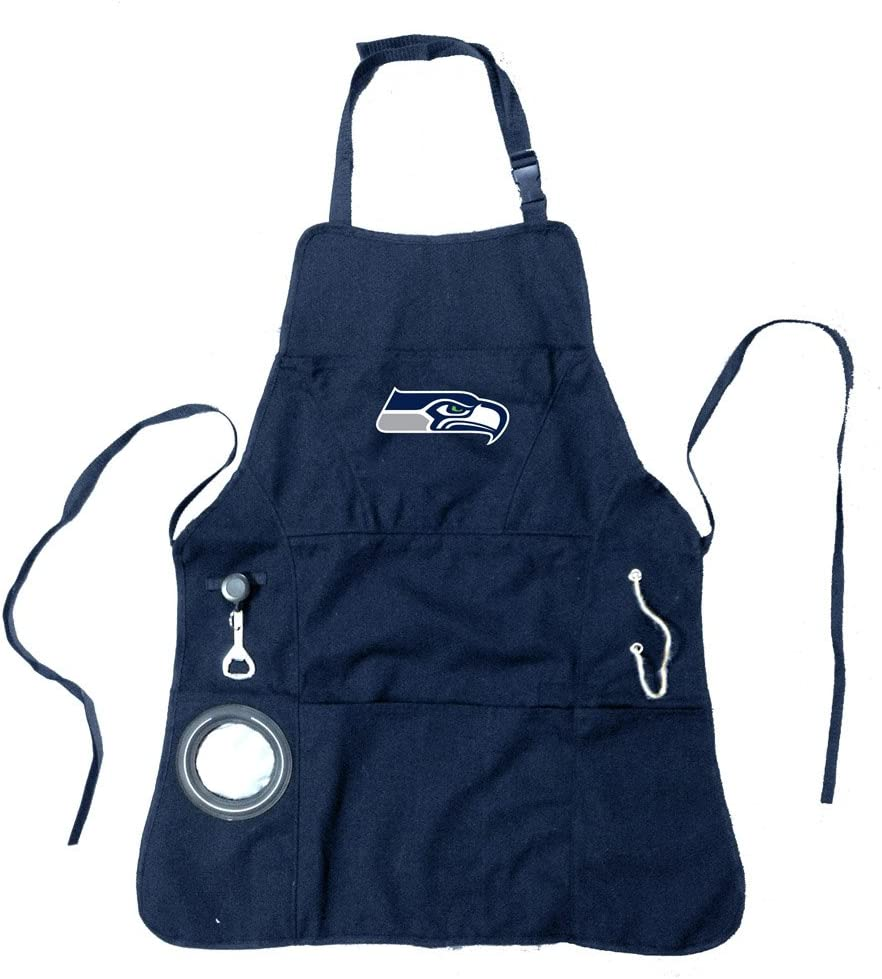 Team Sports America 4AP3805C Chicago Bears Mens Apron with Adjustable Neck Strap Blue