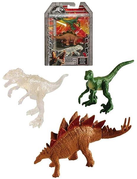 Amazon com: Mini Dino 3 Pack Indominus Rex Jurassic World