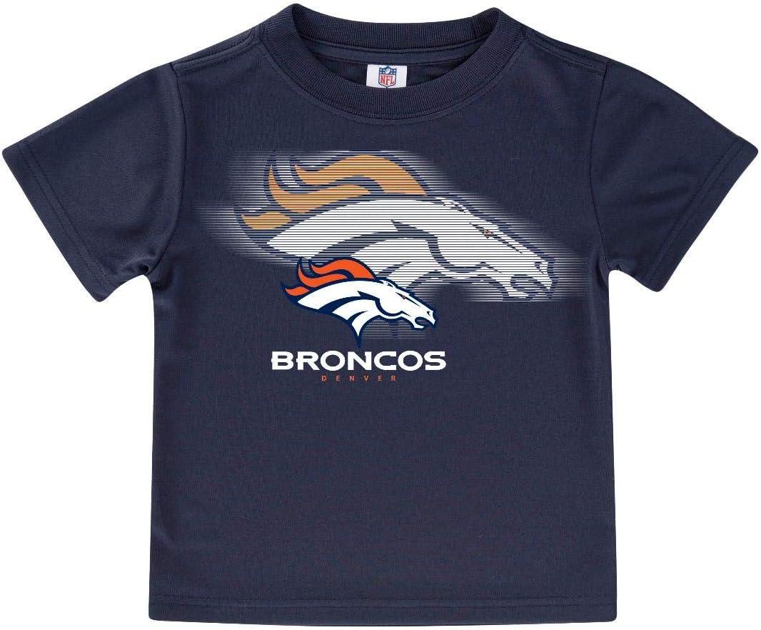 NFL ボーイズ 半袖 無地ロゴTシャツ オレンジ/ネイビー 2T