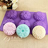 best seller today Pieces 6 Cavity Silicone Flower Soap...