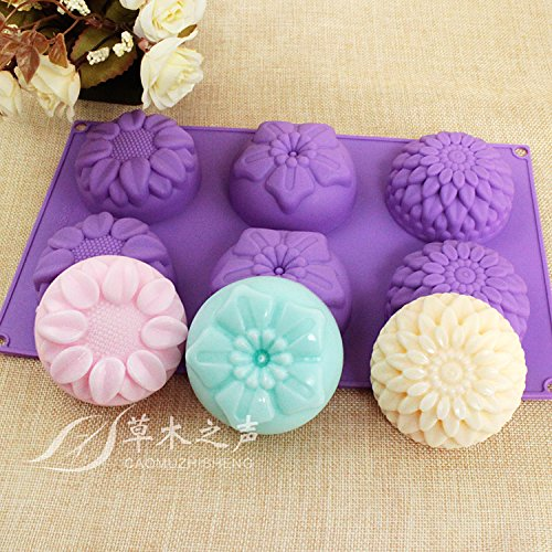 6 piece flower soap mold