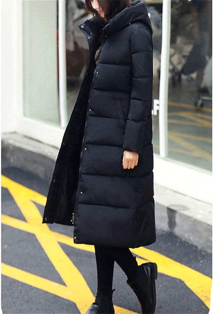 Fanessy Manteau Femme Hiver Doudoune Chaud Parka Noir Gris Bleu Longue Blouson Chic /él/égant avec Capuche /épais Trenche Grande Taille Duvet en Coton