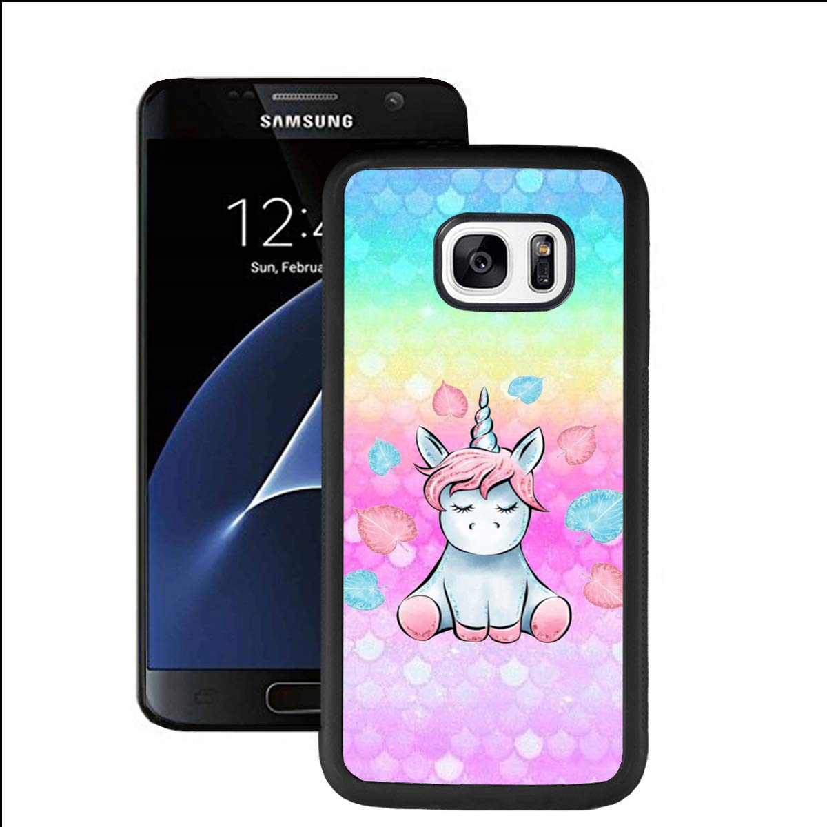 Amazon.com: Samsung Galaxy S7 Case, Cute Rainbow Unicorn ...