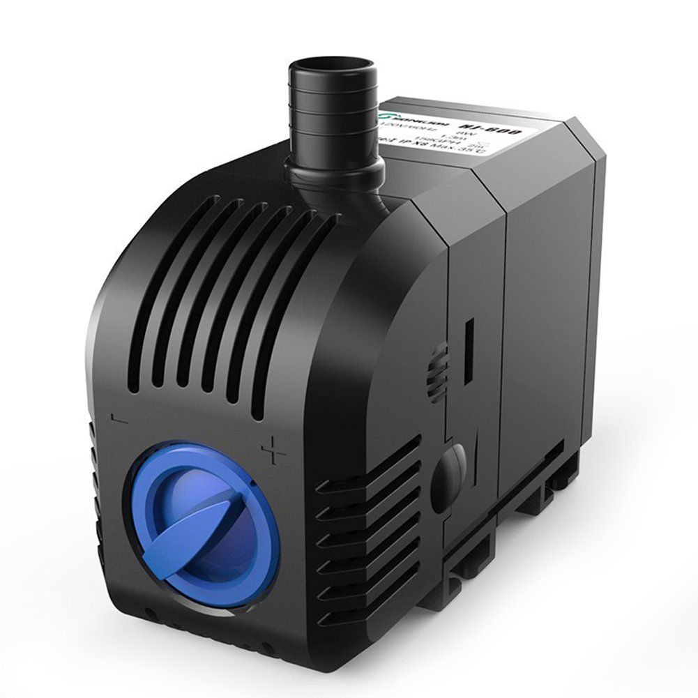 SongJoy 158 GPH Submersible Water Pump 8W for Aquarium Fish Tank Pond Fountain Hydroponics with 4.9ft Power Cord