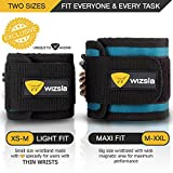 Wizsla Magnetic Wristbands Set of 2 Adjustable Sizes XS-M + M-XXL for Holding Screws Nails Pins Drill Bits, Unique Gift Idea for Men Women, Best Tool Gift for DIY Handyman Father Husband Boyfriend