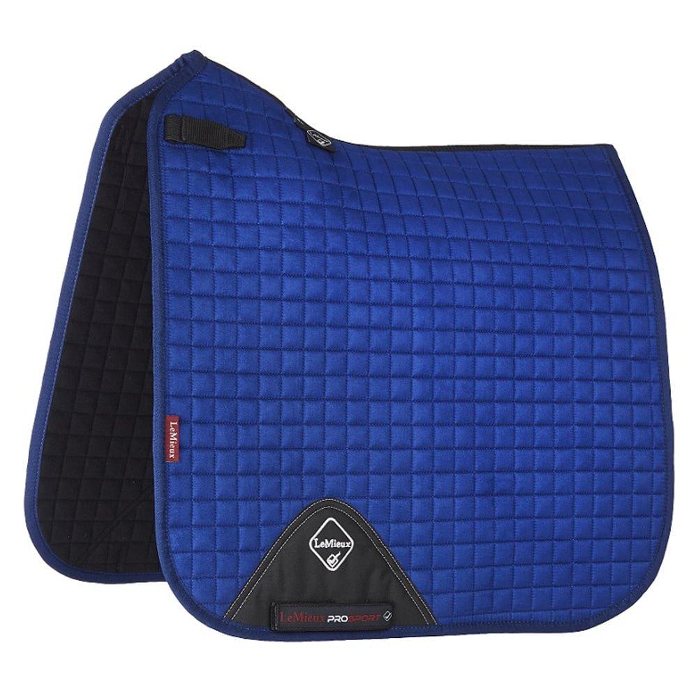 Lemieux ProSport Lustre Suede Dressage Square (D-Ring) Saddle Pad Large Benetton bluee