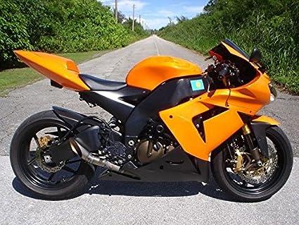 Naranja w/color negro mate completo carenado carrocería ...