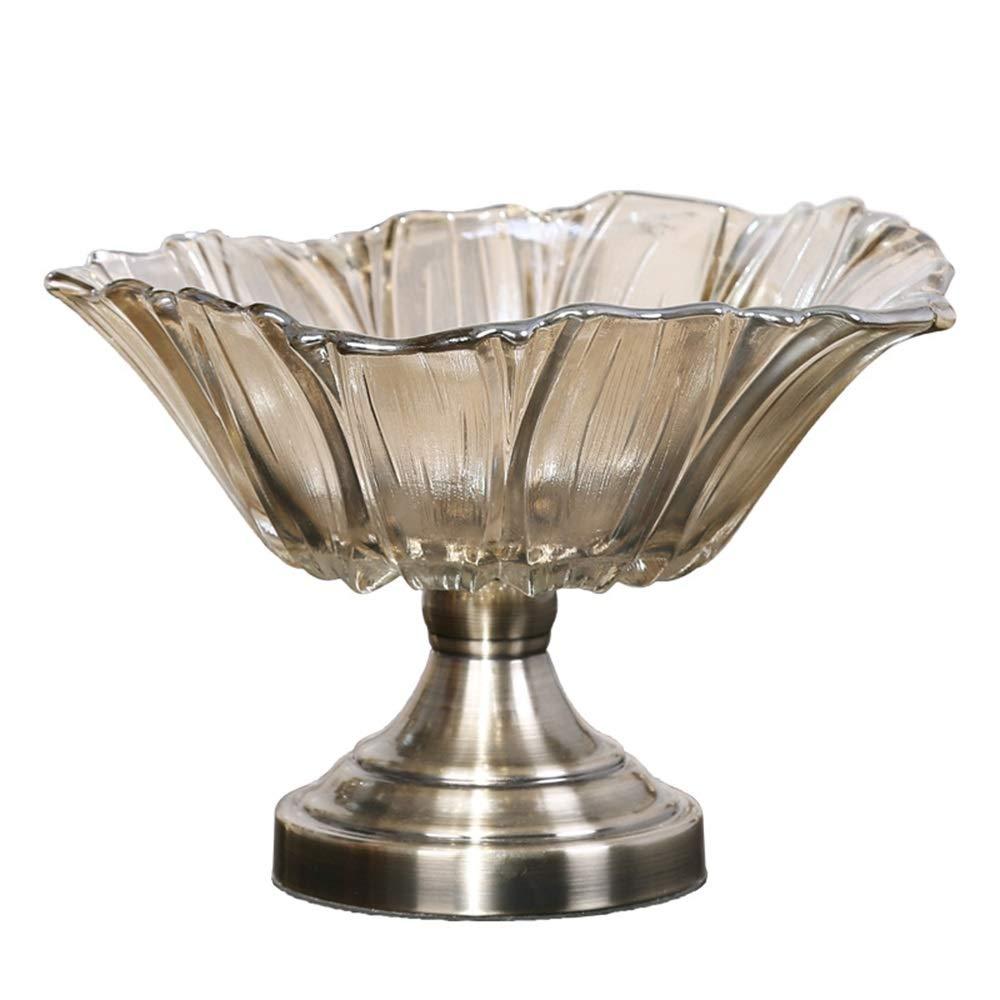 フルーツバスケット- ヨーロッパの高級クリスタルガラスフルーツボウルリビングルームのコーヒーテーブルホームフルーツボウルキャンディ皿アメリカンフルーツボウル WPQW   B07R7NB7WH