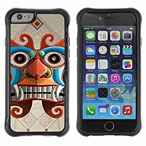 "A-type Arte & diseño Anti-Slip Shockproof TPU Fundas Cover Cubre Case para 4.7"" iPhone 6 ( Inca Aztec God Illustration )"