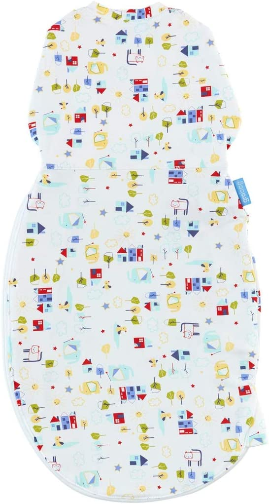 The GRO Company Good Morning Grosnug 2-in-1 Swaddle and Newborn Grobag 0-3 Months Light for Warm Weather