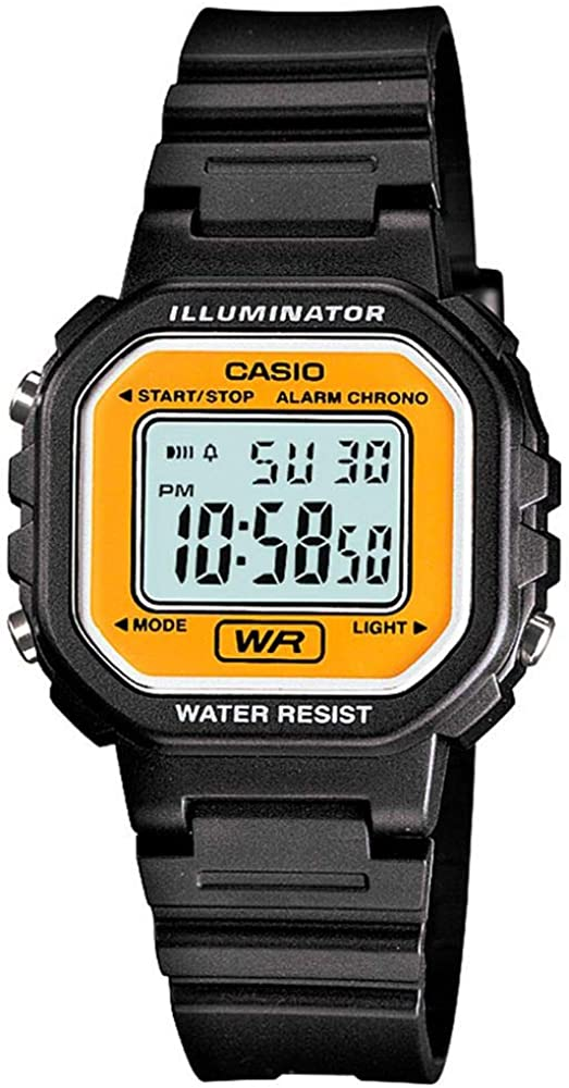 Casio #LA20WH-9A Women's Black Chronograph Alarm LCD Digital Watch