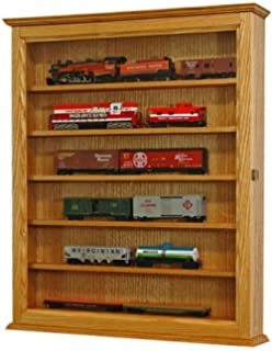 wall hanging ho scale model train display caseoak hardwood made in the usa
