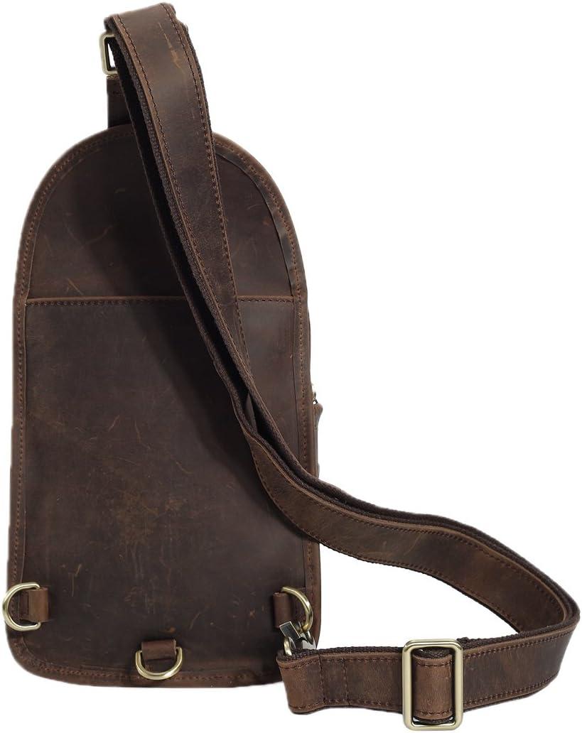 Genda 2Archer Vintage Genuine Cowhide Leather Chest Pack Cross Body Sling Bag