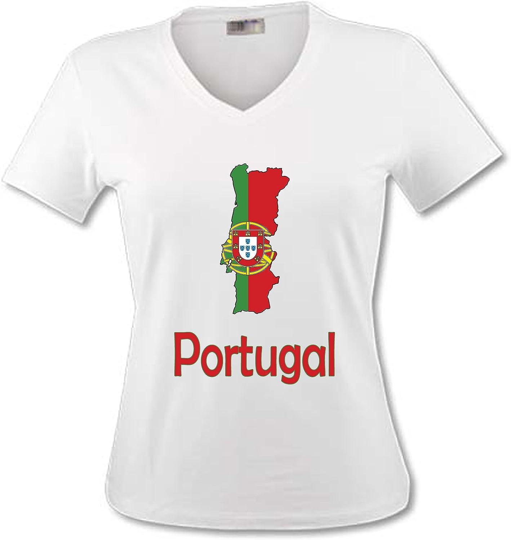 yonacrea T-Shirt B/éb/é Carte Portugal avec Son Drapeau