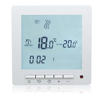 beok tol63r-wp agua calefacción por suelo radiante programable digital termostato, temperatura de la