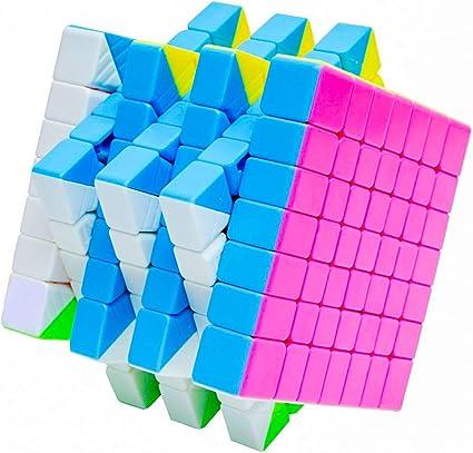 D Eternal Rubik Cube 7x7x7 High Speed Stickerless Magic Rubix Cube,Multicolor