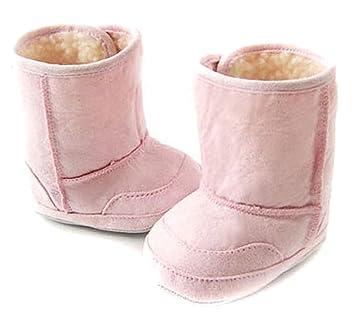 Amazon.com: Zapatos Bebé caliente de algodón/botas rosa 18 ...