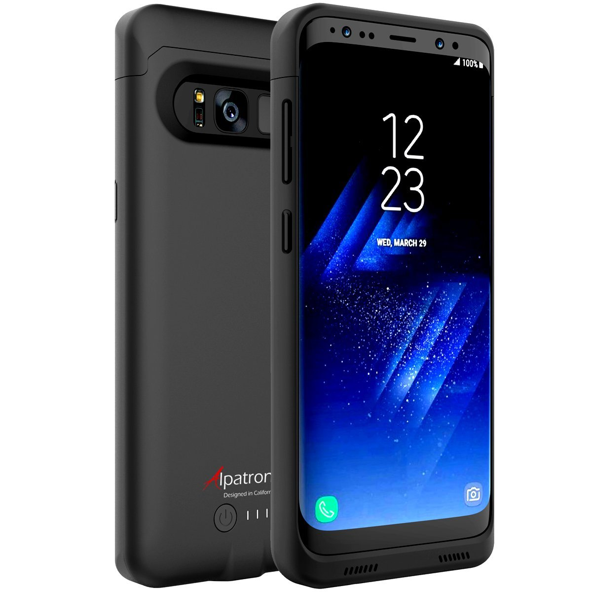 factory price f6216 f8043 Galaxy S8 Battery Case Qi Wireless Charging Compatible, Alpatronix BX430  5.8-inch 4500mAh Slim Rechargeable Extended Protective Portable Backup ...