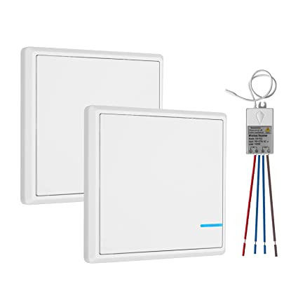 tsss independent dual switches wireless light switch with receiver kit  ,easy installation, no wiring