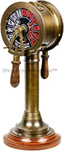 Nagina International Engine Order Telegraph Chadburn Nautical Maritime Home Decor Accent & Collectible Figurines with Functional Bell | Gifts & Decor (36 Inches, Brass Antique)