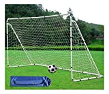 Soccer Goal 7' x 5' Football Soccer Goal Post W/Net Straps, Anchor Ball Training